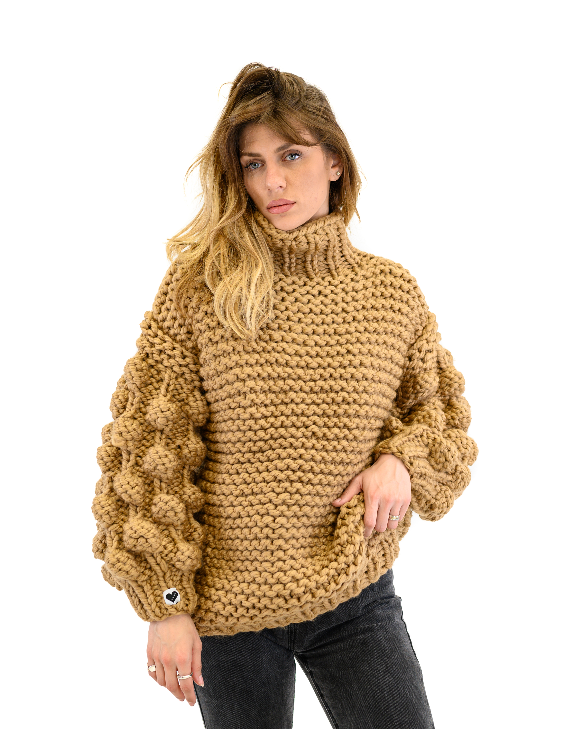 Bubble Sleeve Sweater
