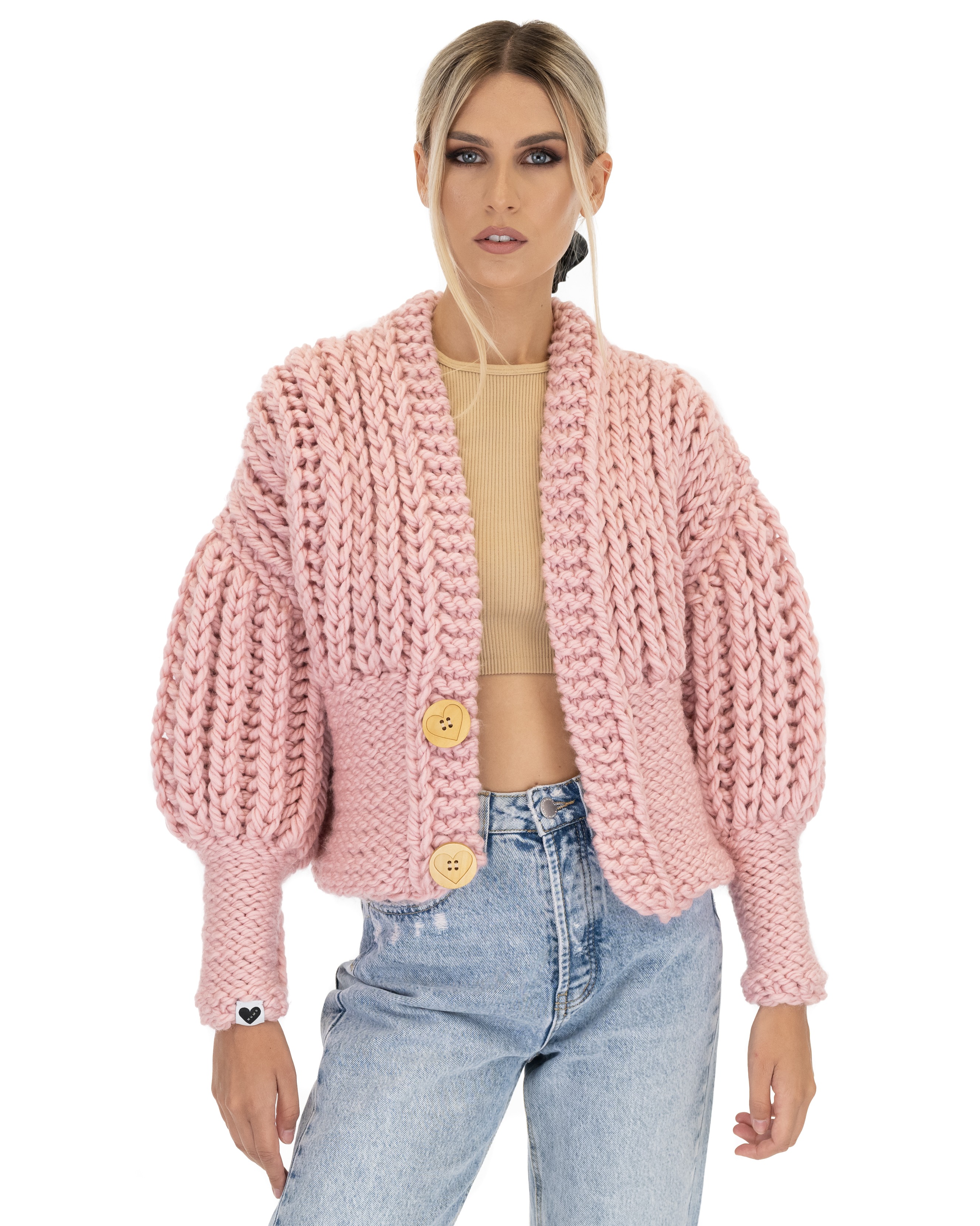 Padded Crop Cardigan