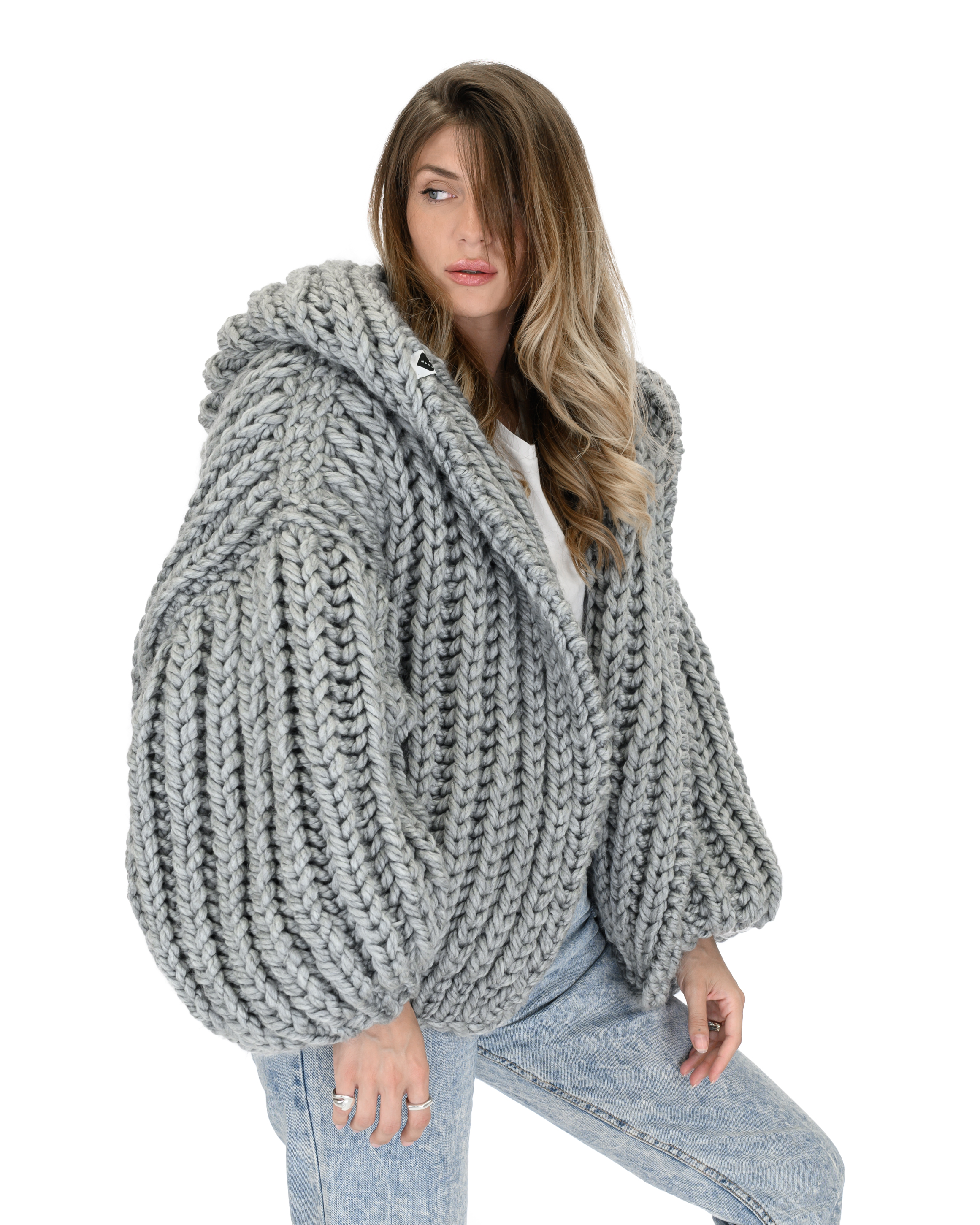 Hooded Chunky Cardigan