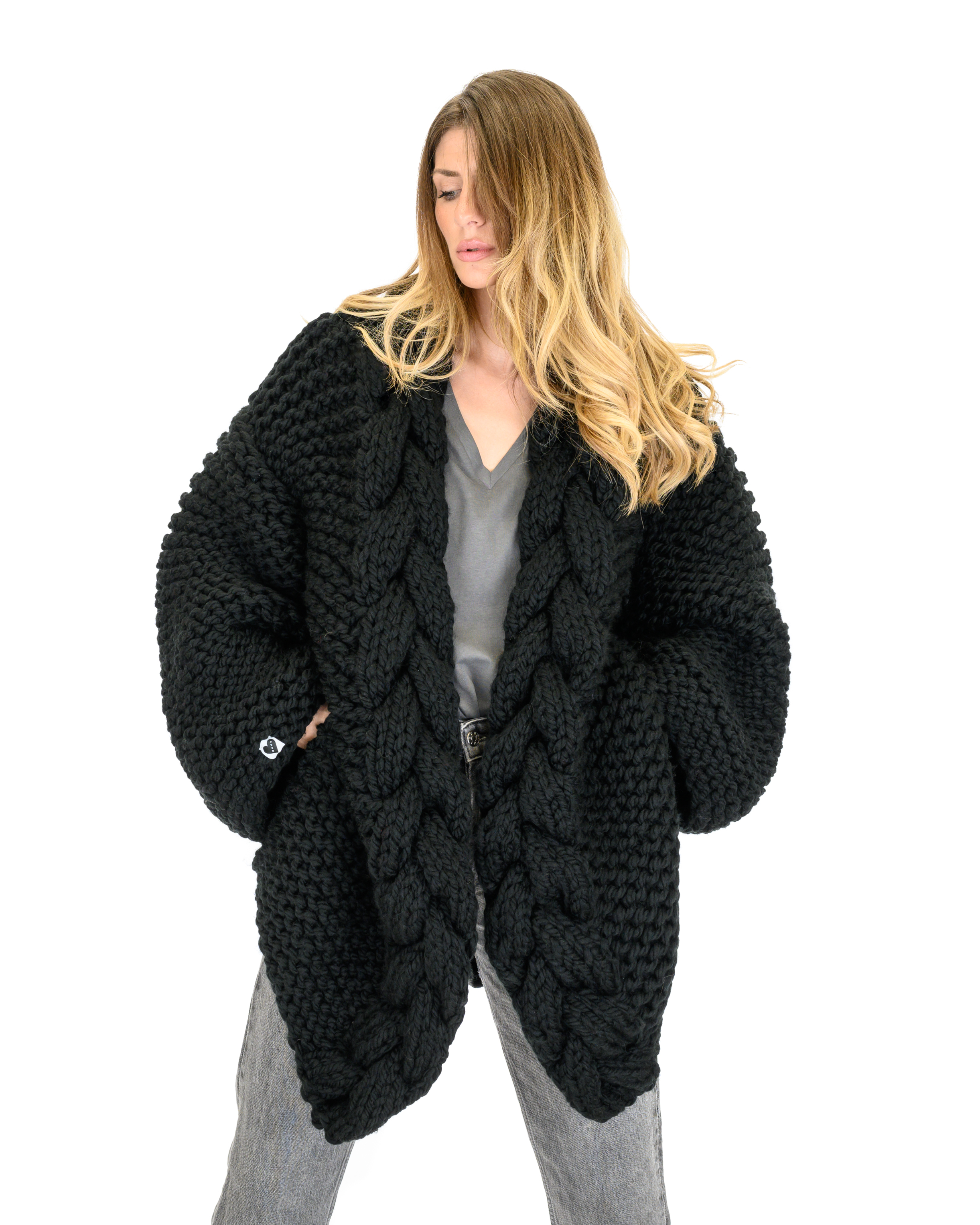 Cable Knitted Coat