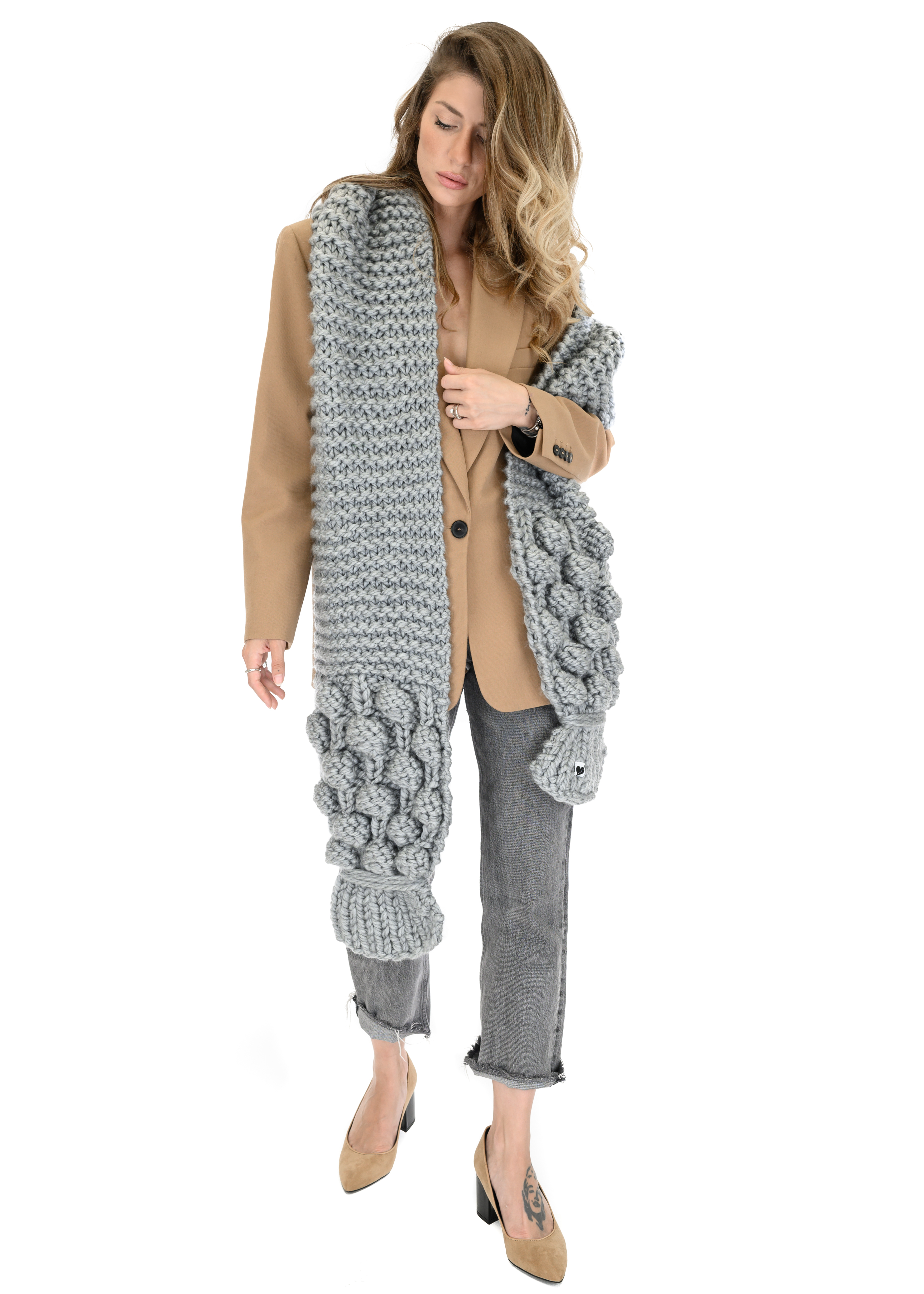Bubble Ribbed Scarf
