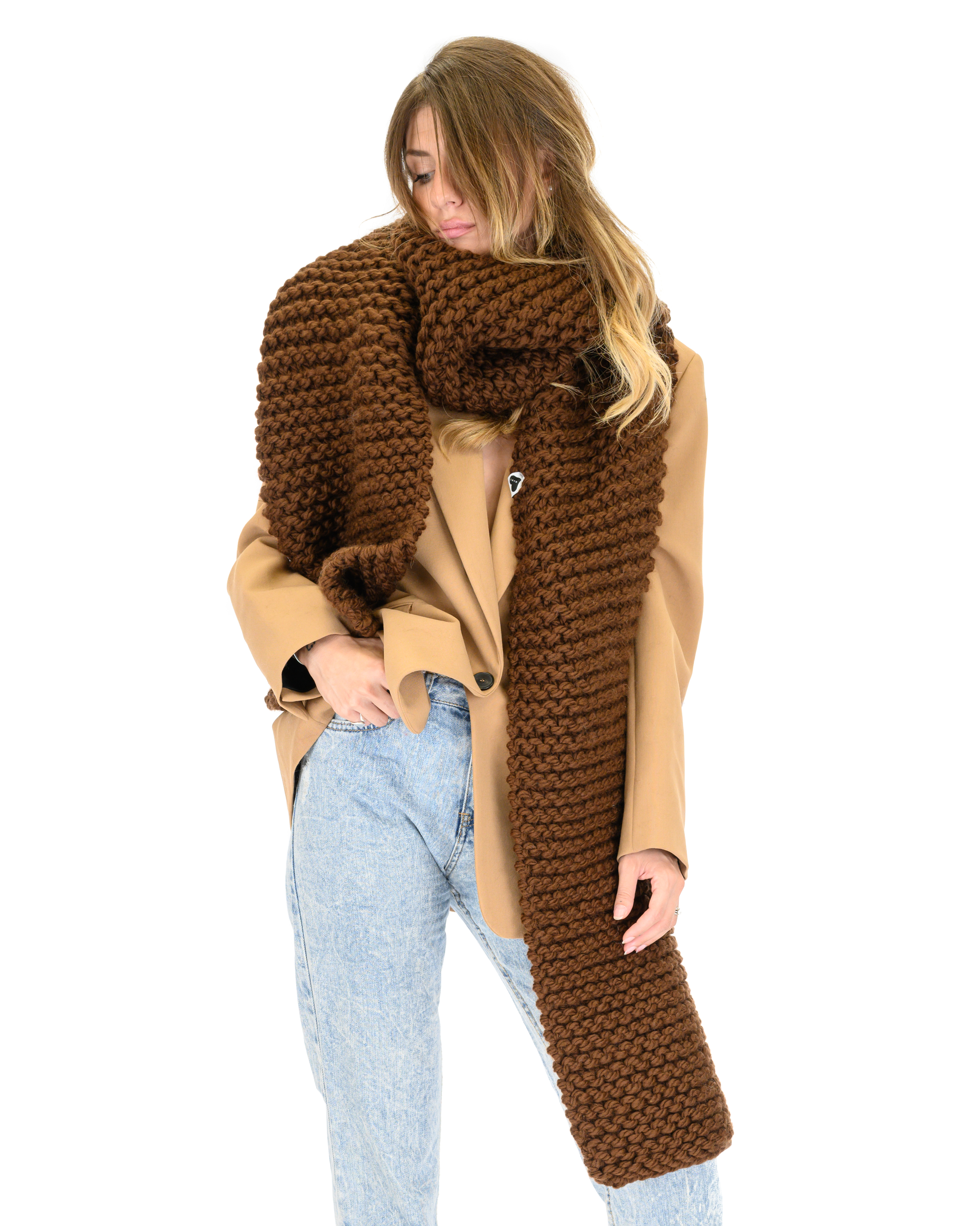 Straight Ribbed Scarf